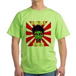ZOMBIE-BRAINS-SMILE Green T-Shirt