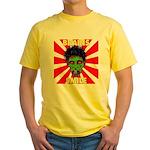 ZOMBIE-BRAINS-SMILE Yellow T-Shirt