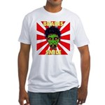 ZOMBIE-BRAINS-SMILE Fitted T-Shirt