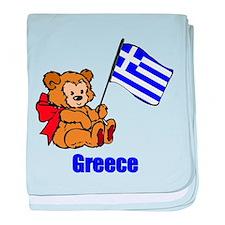 Greece Teddy Bear Infant Blanket