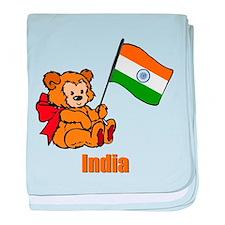 India Teddy Bear Infant Blanket