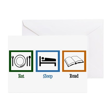 Eat Sleep Read Greeting Cards (Pk of 10)