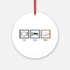 Eat Sleep Read Ornament (Round)