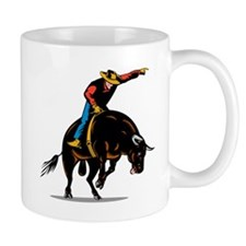 Rodeo cowboy bull riding Mug