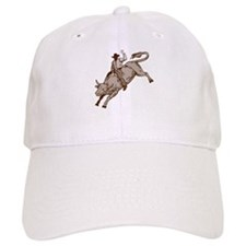 Rodeo cowboy bull riding Baseball Cap