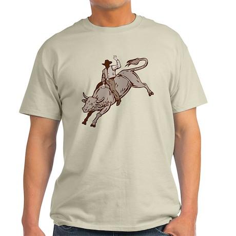 Rodeo cowboy bull riding Light T-Shirt