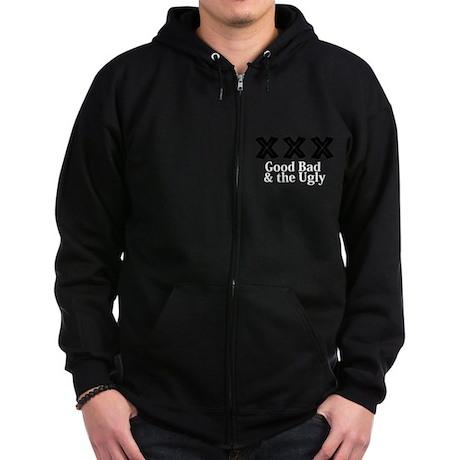 Good Bad And The Ugly Logo 12 Zip Hoodie (dark) De