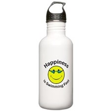 Happiness is Swimming Fast Stainless Water Bottle