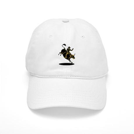 Rodeo cowboy bull riding Cap