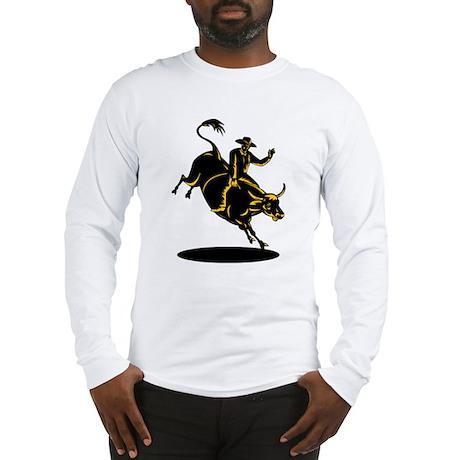 Rodeo cowboy bull riding Long Sleeve T-Shirt