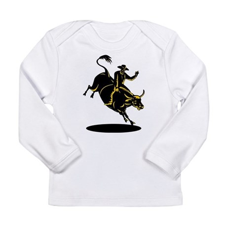 Rodeo cowboy bull riding Long Sleeve Infant T-Shir