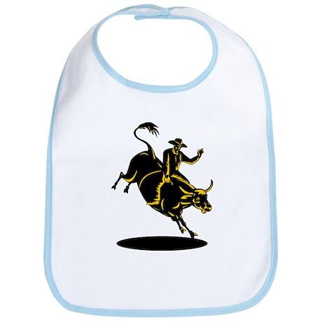 Rodeo cowboy bull riding Bib