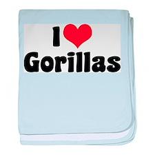 I Love Gorillas Infant Blanket