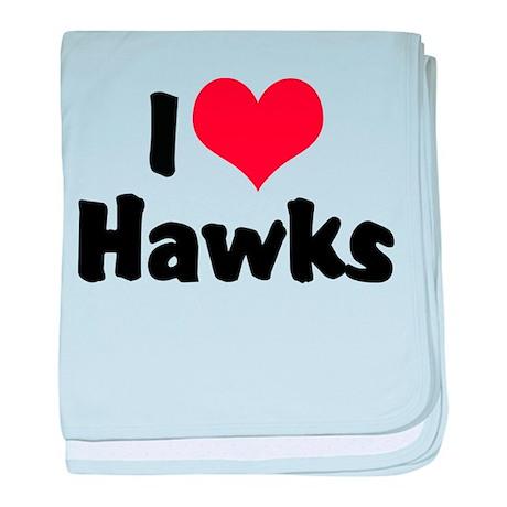 I Love Hawks Infant Blanket