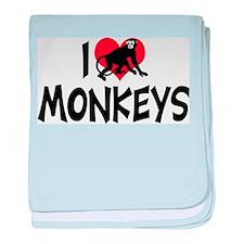 I Love Monkeys Infant Blanket
