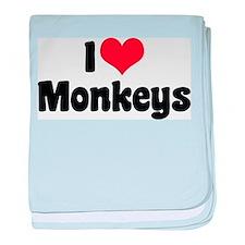 I Love Monkeys 2 Infant Blanket