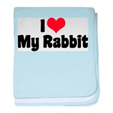 I Love My Rabbit Infant Blanket