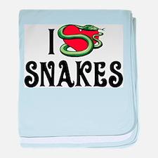 I Love Snakes Infant Blanket