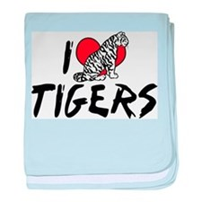 I Love Tigers Infant Blanket