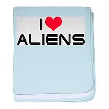 I Love Aliens 2 Infant Blanket