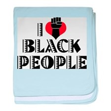 I Love Black People Infant Blanket