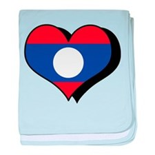 I Love Laos Infant Blanket