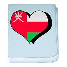 I Love Oman Infant Blanket