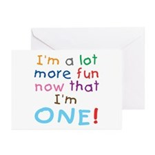More Fun 1st Birthday First Greeting Cards (Packag