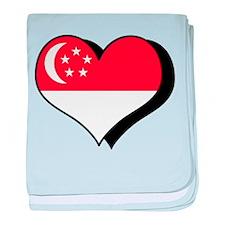 I Love Singapore Infant Blanket