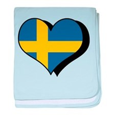 I Love Sweden Infant Blanket