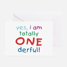Onederful 1st Birthday First Greeting Cards (Packa
