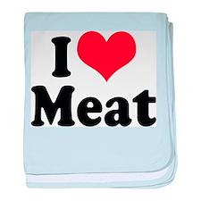 I Love Meat Infant Blanket