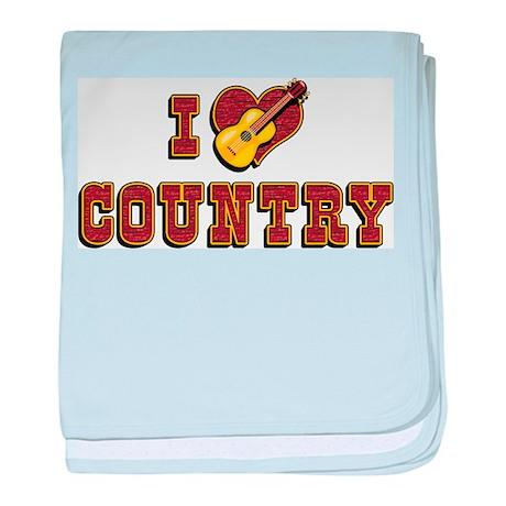 I Love Country Infant Blanket