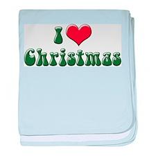 I Love Christmas 2 Infant Blanket