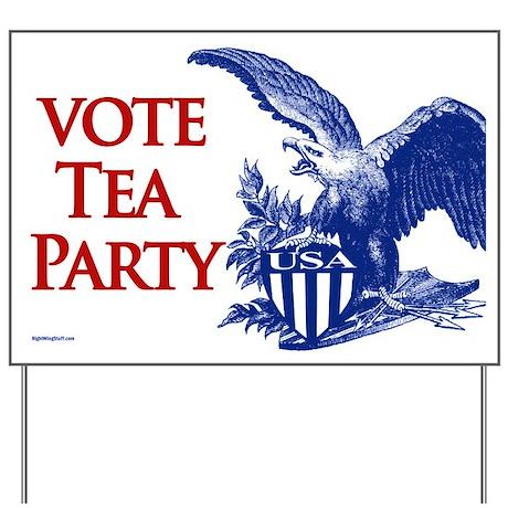 Vote Tea Party Yard Sign