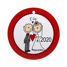Stick Figures I Do 2015 Ornament (Round) Ornament