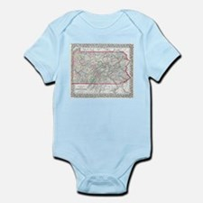 Vintage Map of Pennsylvania (1874) Body Suit