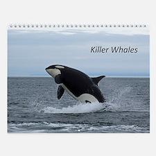 Wall Calendar-Whales (Orcas)