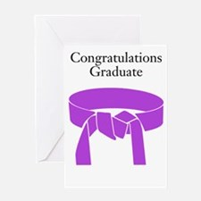Purple belt Greeting Cards