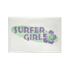 More Surfer Girl Rectangle Magnet