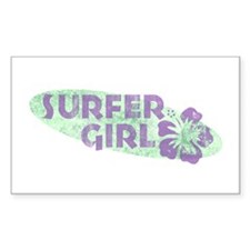 More Surfer Girl Rectangle Decal
