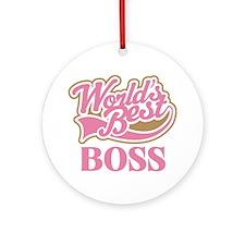 Worlds Best Boss Ornament (Round)