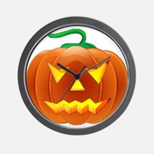 Halloween Pumpkin Wall Clock