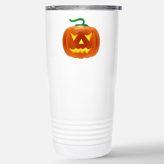 Halloween Pumpkin Stainless Steel Travel Mug