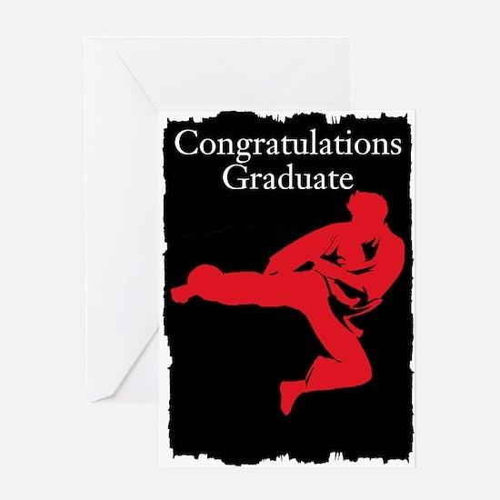 Karate School Graduate Greeting Cards