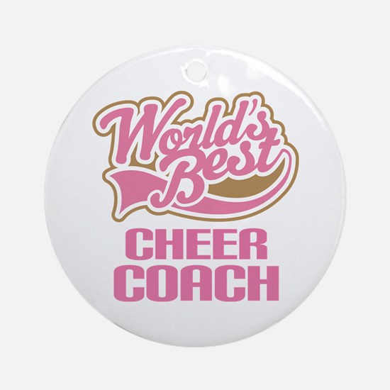 Cheer Coach Ornament (Round)