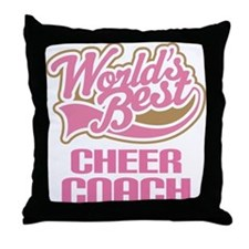 Cheer Coach Throw Pillow