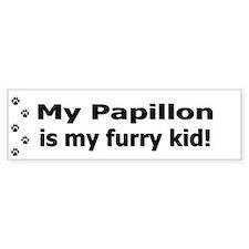 Papillon Furry Kid Bumper Bumper Sticker