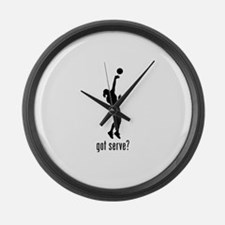 Serve Volleyball 1 Large Wall Clock