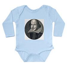 Wm Shakespeare Long Sleeve Infant Bodysuit